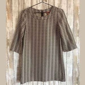 Tory Burch Tunic Dress SZ 2 Geometric 100% Silk